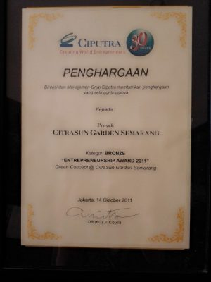 Entrepreneurship Award 2011